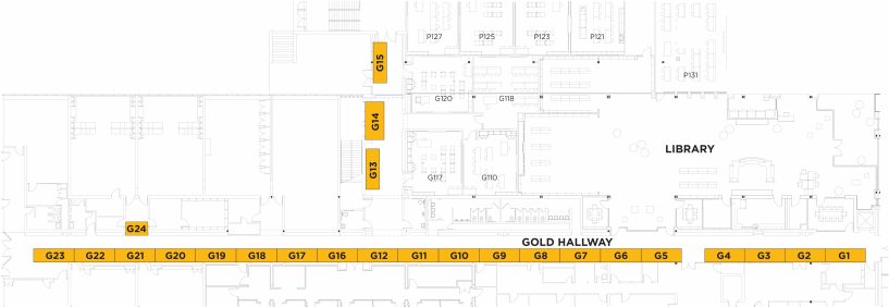 gold hallway map bloomington high school bhs craft show