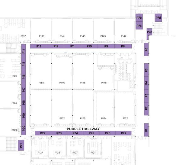 purple hallway map bloomington high school bhs craft show